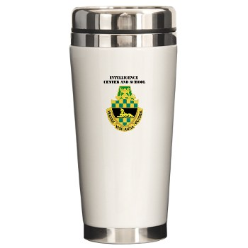 icon - M01 - 03 - DUI - Intelligence Center/School with Text - Ceramic Travel Mug