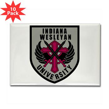 indwes - M01 - 01 - SSI - ROTC - Indiana Wesleyan University - Rectangle Magnet (10 pack)