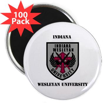 "indwes - M01 - 01 - SSI - ROTC - Indiana Wesleyan University with Text - 2.25"" Magnet (100 pack)"