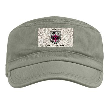 indwes - A01 - 01 - SSI - ROTC - Indiana Wesleyan University with Text - Military Cap