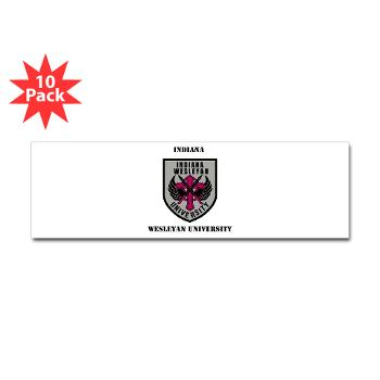 indwes - M01 - 01 - SSI - ROTC - Indiana Wesleyan University with Text - Sticker (Bumper 10 pk)