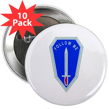 "infantry - M01 - 01 - DUI - Infantry Center/School - 2.25"" Button (10 pack)"