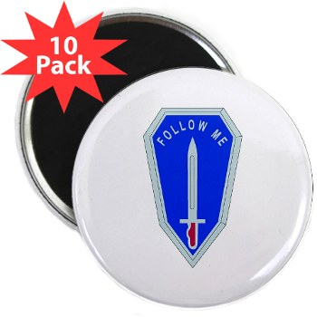 "infantry - M01 - 01 - DUI - Infantry Center/School - 2.25"" Magnet (10 pack)"