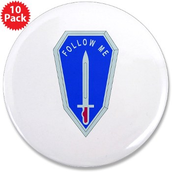 "infantry - M01 - 01 - DUI - Infantry Center/School - 3.5"" Button (10 pack)"