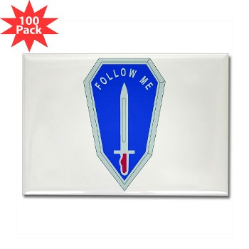 infantry - M01 - 01 - DUI - Infantry Center/School - Rectangle Magnet (100 pack)