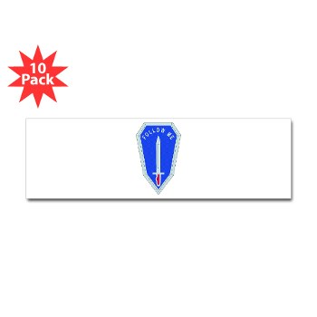 infantry - M01 - 01 - DUI - Infantry Center/School - Sticker (Bumper 10 pk)