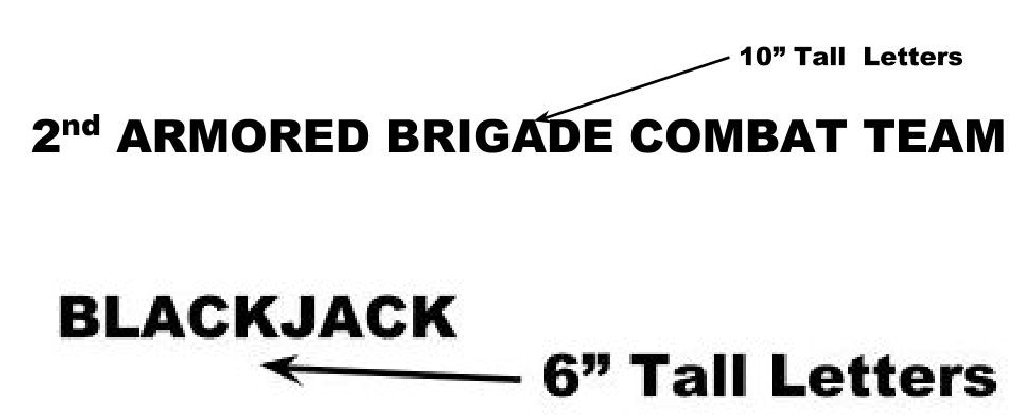 "1st Cav 2BCT ""Blackjack"" - Signage Item 8"