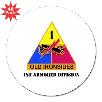 1AD - M01 - 01 - DUI - 1stArmored Division WithText 3 Lapel (48pk)