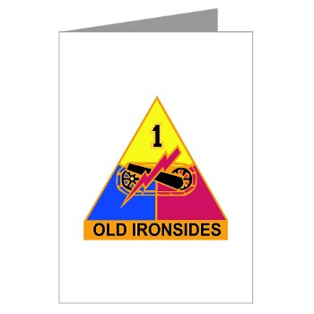 1AD - M01 - 02 - DUI - 1st Armored Division Note Cards (Pk of 10)