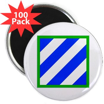 "03ID - M01 - 01 - SSI - 3rd Infantry Division 2.25"" Magnet (100 pack)"