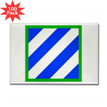 03ID - M01 - 01 - SSI - 3rd Infantry Division Rectangle Magnet (100 pack)