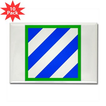 03ID - M01 - 01 - SSI - 3rd Infantry Division Rectangle Magnet (10 pack)