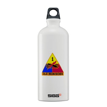 1AD - M01 - 03 - DUI - 1st Armored Division Sigg Water Bottle 1.0L