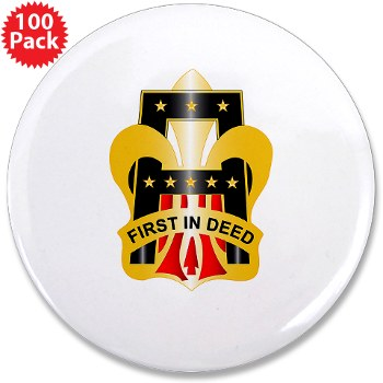 "1A - M01 - 01 - DUI - First United States Army 3.5"" Button (100 pack)"
