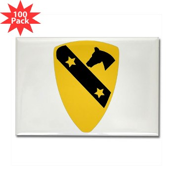 1CAV - M01 - 01 - DUI - 1st Cavalry Division Rectangle Magnet (100 pack)
