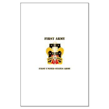 1A - M01 - 02 - DUI - First United States Army with Text Large Poster