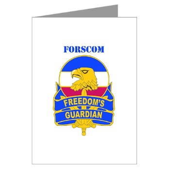FORSCOM - M01 - 02 - DUI - FORSCOM with Text Greeting Cards (Pk of 20)