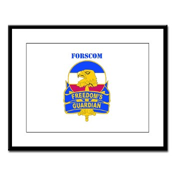 FORSCOM - M01 - 02 - DUI - FORSCOM with Text Large Framed Print