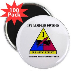 "1HBCTRF - M01 - 01 - DUI - 2nd Heavy BCT Ready First with Text 2.25"" Magnet (100 pack)"