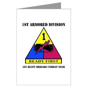 1HBCTRF - M01 - 02 - DUI - 2nd Heavy BCT Ready First with Text Greeting Cards (Pk of 20)