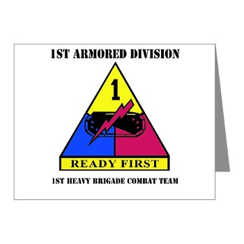 1HBCTRF - M01 - 02 - DUI - 2nd Heavy BCT Ready First with Text Note Cards (Pk of 20)
