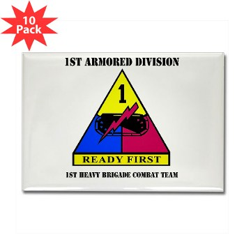 1HBCTRF - M01 - 01 - DUI - 2nd Heavy BCT Ready First with Text Rectangle Magnet (10 pack)