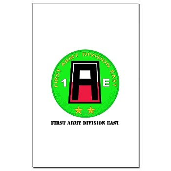 01AE - M01 - 02 - First Army Division East with Text Mini Poster Print