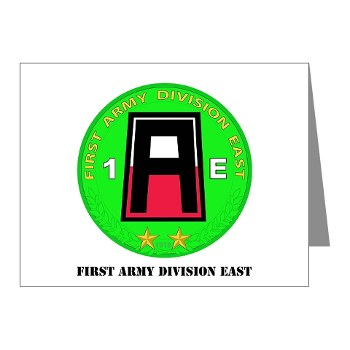 01AE - M01 - 02 - First Army Division East with Text Note Cards (Pk of 20)
