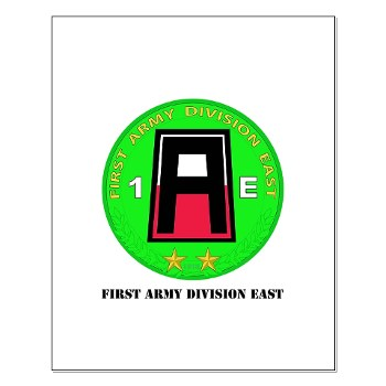 01AE - M01 - 02 - First Army Division East with Text Small Poster