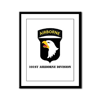 101ABN - M01 - 02 - SSI - 101st Airborne Division with Text Framed Panel Print
