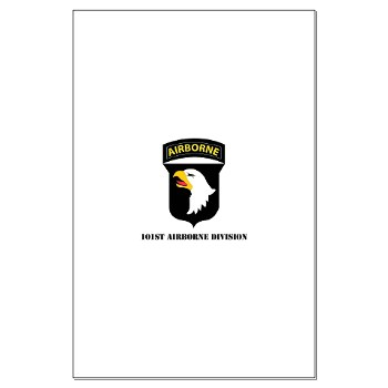 101ABN - M01 - 02 - SSI - 101st Airborne Division with Text Large Poster