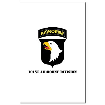 101ABN - M01 - 02 - SSI - 101st Airborne Division with Text Mini Poster Print