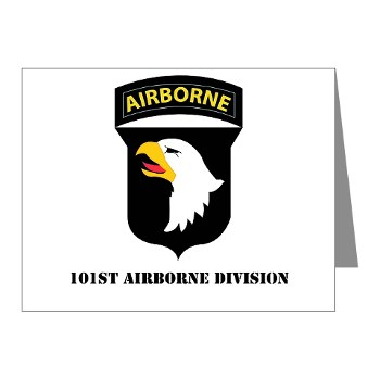 101ABN - M01 - 02 - SSI - 101st Airborne Division with Text Note Cards (Pk of 20)