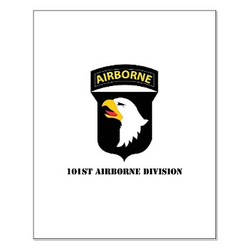 101ABN - M01 - 02 - SSI - 101st Airborne Division with Text Small Poster