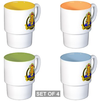 ICorps - M01 - 03 - DUI - I Corps Stackable Mug Set (4 mugs)