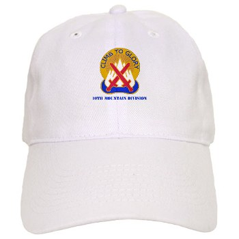 10mtn - A01 - 01 - DUI - 10th Mountain Division with Text Cap