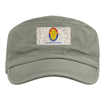 1ID - A01 - 01 - DUI - 1st Infantry Division with Text Military Cap