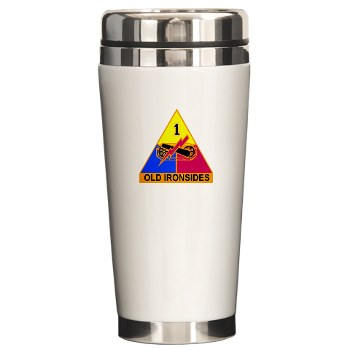 1AD - M01 - 03 - DUI - 1st Armored Division Ceramic Travel Mug