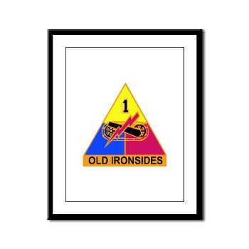 1AD - M01 - 02 - DUI - 1st Armored Division Framed Panel Print