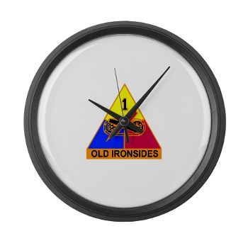 1AD - M01 - 03 - DUI - 1st Armored Division Large Wall Clock