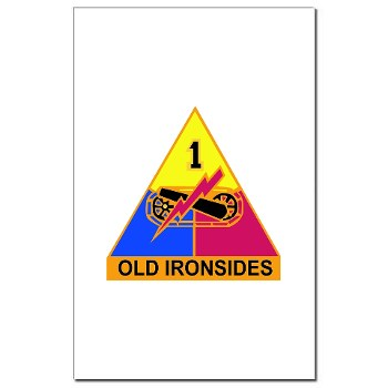 1AD - M01 - 02 - DUI - 1st Armored Division Mini Poster Print