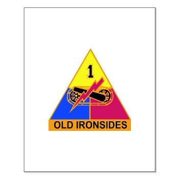 1AD - M01 - 02 - DUI - 1st Armored Division Small Poster