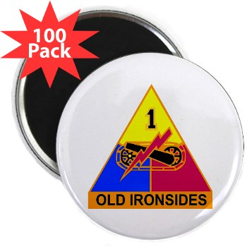 "1AD - M01 - 01 - DUI - 1st Armored Division 2.25"" Magnet (100 pack)"