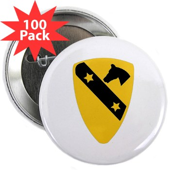 "1CAV - M01 - 01 - DUI - 1st Cavalry Division 2.25"" Button (100 pack)"