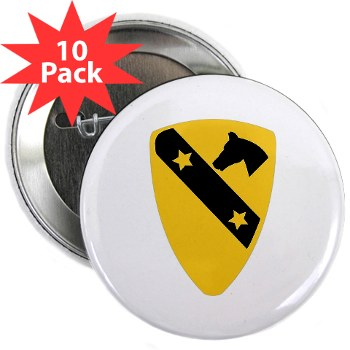 "1CAV - M01 - 01 - DUI - 1st Cavalry Division 2.25"" Button (10 pack)"