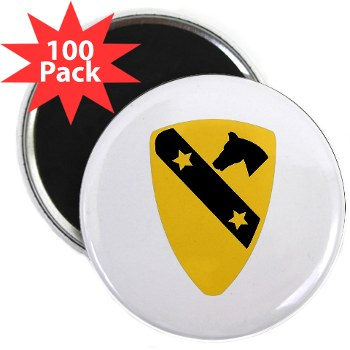 "1CAV - M01 - 01 - DUI - 1st Cavalry Division 2.25"" Magnet (100 pack)"