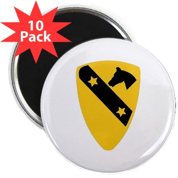 "1CAV - M01 - 01 - DUI - 1st Cavalry Division 2.25"" Magnet (10 pack)"
