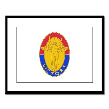 1ID - M01 - 02 - DUI - 1st Infantry Division Large Framed Print