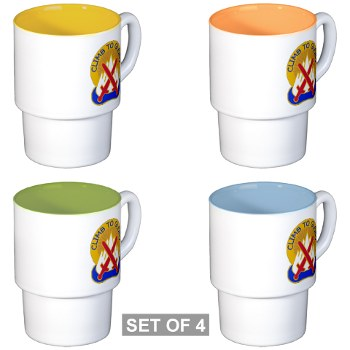10mtn - M01 - 03 - DUI - 10th Mountain Division - Stackable Mug Set (4 mugs)