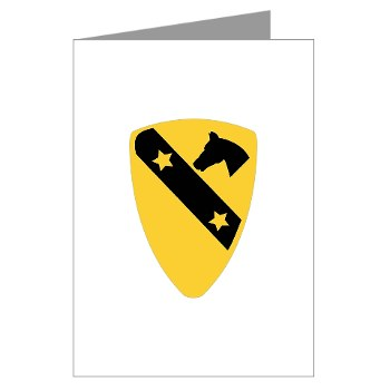 1CAV - M01 - 02 - DUI - 1st Cavalry Division Greeting Cards (Pk of 10)